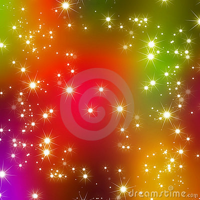 Glitter stars abstract background