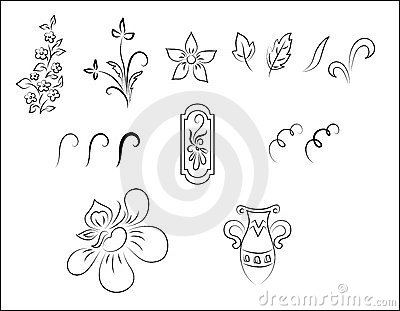 Vector floral ornament pattern