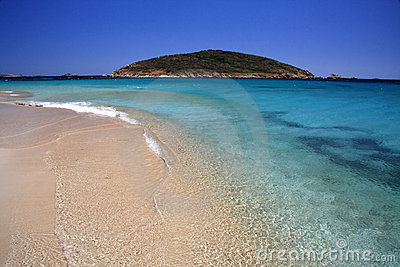 Sardinian beach in summer