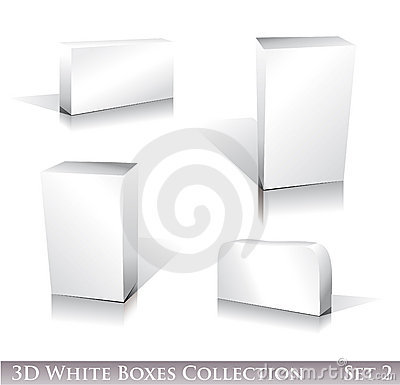White Boxes Icon Set