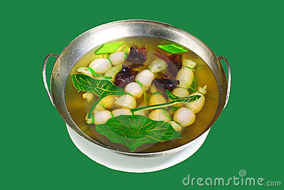 Chinese Cuisine,Meatball soup