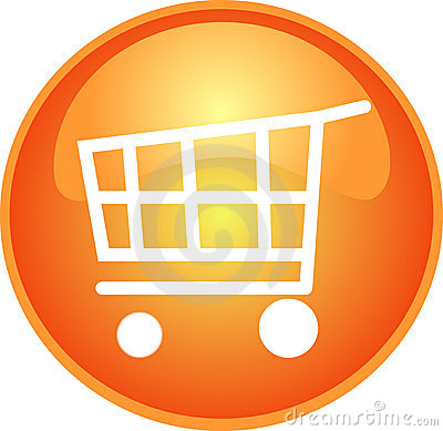 Orange shopping button