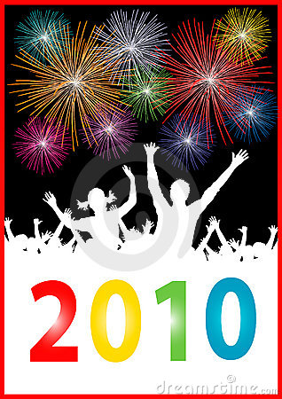 Happy new year 2010 Placard