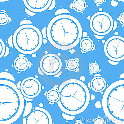 Blue seamless alarm clock background