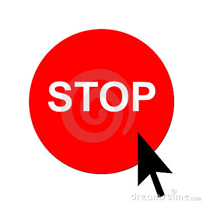 Red stop button and cursor