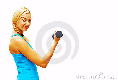 Workout Woman On White