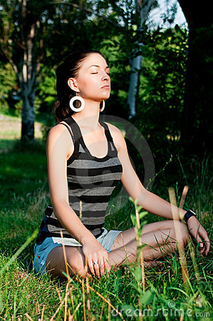 Young woman meditation