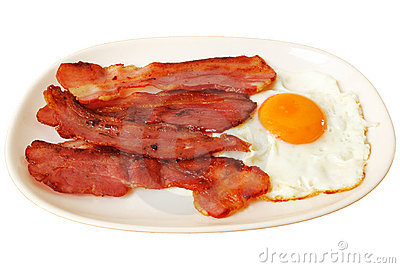 Fried egg with bacon
