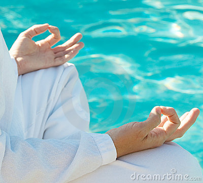 Meditation Hands Above Water