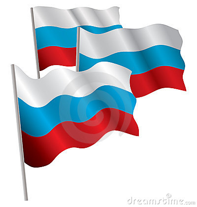 Russia 3d flag.