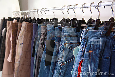 Jeans at market