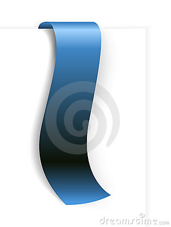 Fresh blue ribbon - bookmark