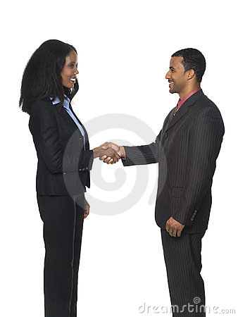 Businesspeople - handshake greeting
