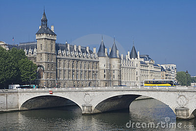 Conciergerie and Pont au Change. Paris