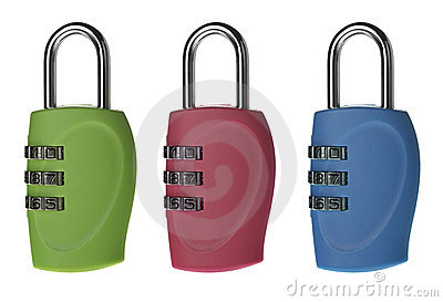 Set color the lock with a digital code