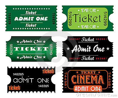 Colorful tickets