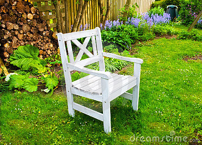 A chair in my beautiful garden