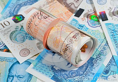 New Pound Notes Roll