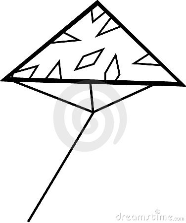 Triangle kite flying vector illustration