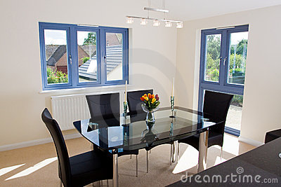Modern open plan dining area