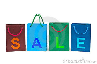 Shopping bags and word Sale