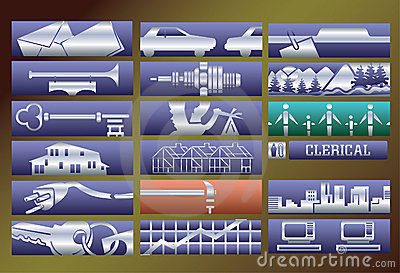 Vector services banners set