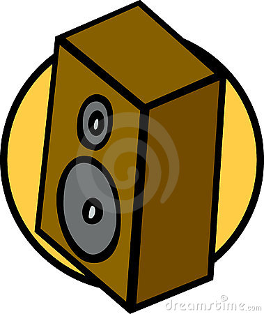 Bookshelf music speaker vector illustration