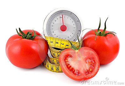 Tomato and measuring tape