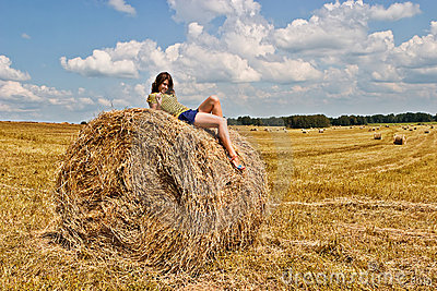 Field and girl