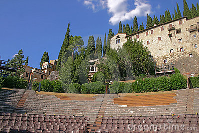 Amphitheatre of the Teatro Romano in Verona, Italy