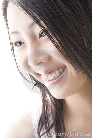 Smiling Japanese woman