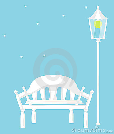 White chair and street lights