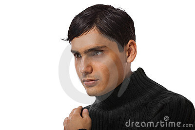 Handsome guy portrait isolated