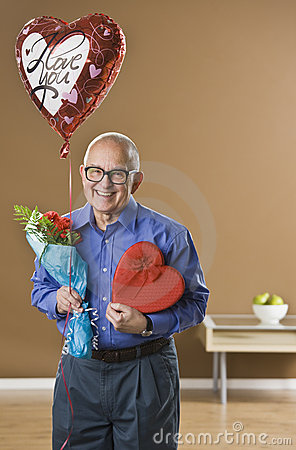 Man with Valentines Presents