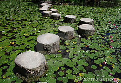 Stepping Stones, Heian-Jing Shrine