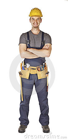 Confident young handyman