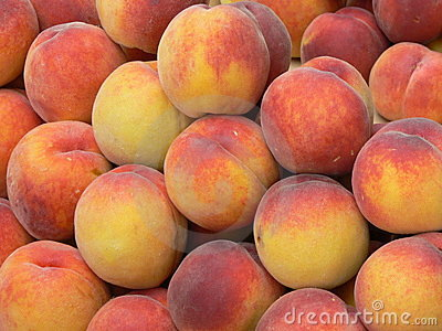 A lot of peaches