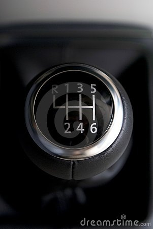 Black and chrome gearstick