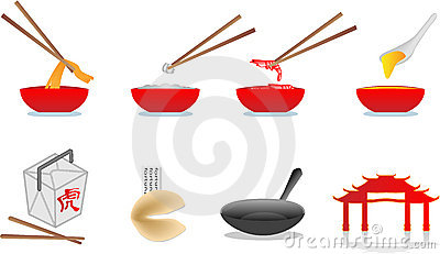 Chinese food illustration