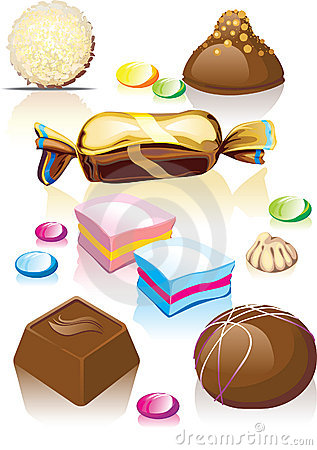 Assorted chocolates candy.