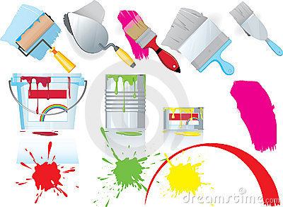 Paint and painting icons