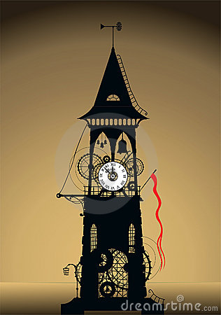 Clock tower silhouette