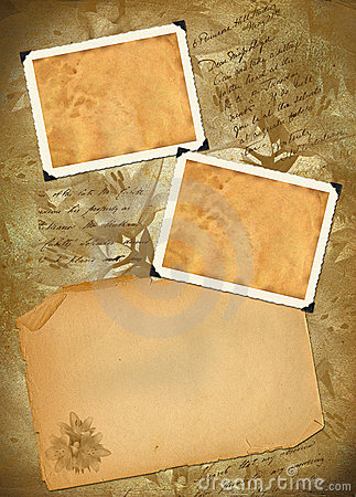Old paper with photoframeworks