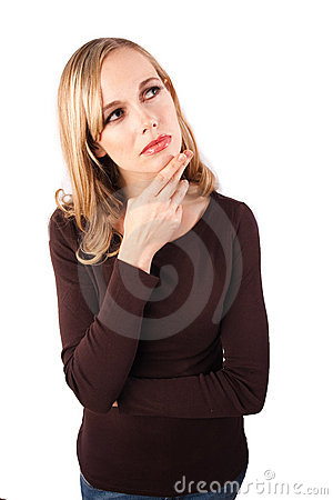 Woman in deep thought