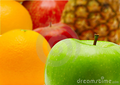 Fresh apple and citrus fruit
