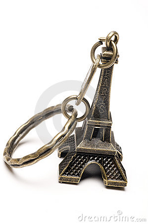 Eiffel tower key chain souvenir