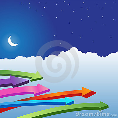 Night Sky Scene - Arrows