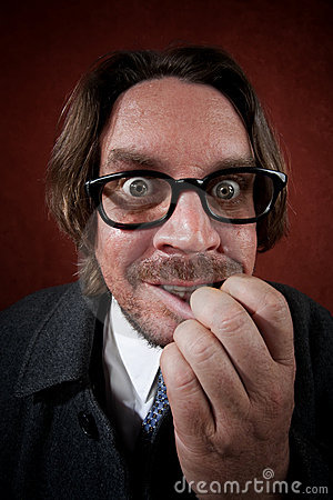 Puzzled Man with Glasses