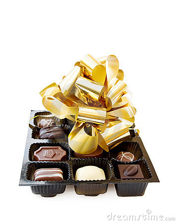Celebration of a special day with fine chocolates