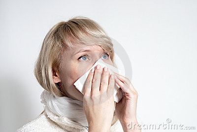 Female having a cold